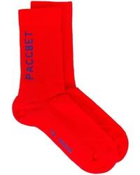Calcetines estampados rojos de Gosha Rubchinskiy