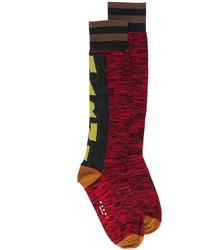 Calcetines Estampados Rojos de Marni