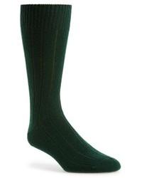 Calcetines verde oscuro