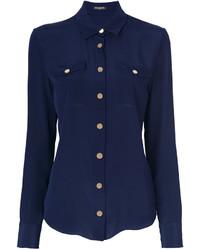 Camisa azul marino de Balmain