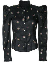 Camisa bordada negra de Isabel Marant