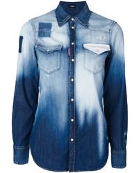 Camisa celeste de Dsquared2