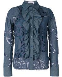 Camisa de encaje azul de See by Chloe