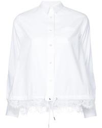 Camisa de encaje blanca de Sacai