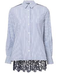 Camisa de encaje celeste de Sacai