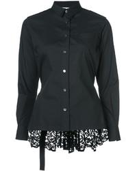 Camisa de encaje negra de Sacai