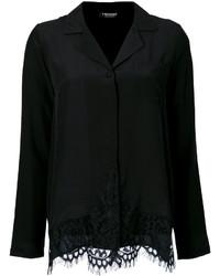 Camisa de encaje negra de Twin-Set