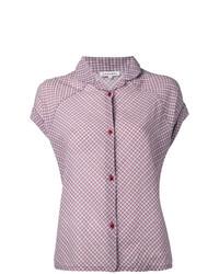 Camisa de manga corta a cuadros roja de Caramel