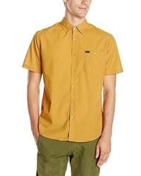 Camisa de Manga Corta Amarilla de Brixton