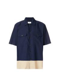 Camisa de manga corta azul marino de AMI Alexandre Mattiussi