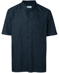 Camisa de manga corta azul marino de Lemaire