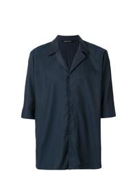 Camisa de manga corta azul marino de Neil Barrett