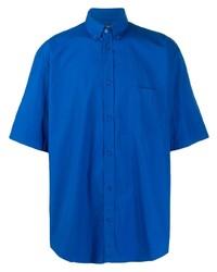 Camisa de manga corta azul de Balenciaga