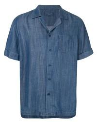 Camisa de manga corta azul de Frescobol Carioca