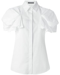 Camisa de Manga Corta Blanca de Alexander McQueen