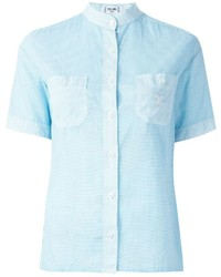 Camisa de manga corta celeste