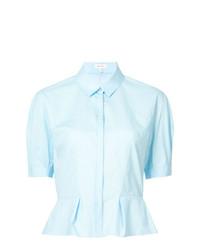 Camisa de manga corta celeste de DELPOZO