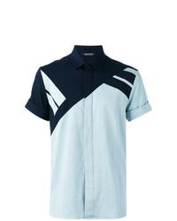 Camisa de manga corta celeste de Neil Barrett