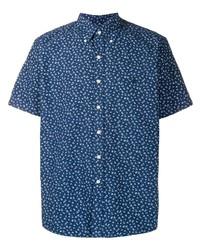Camisa de manga corta con print de flores azul marino de Polo Ralph Lauren