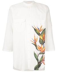 Camisa de manga corta con print de flores blanca de Dolce & Gabbana
