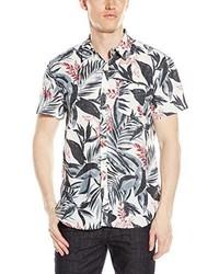 Camisa de manga corta con print de flores blanca de Lucky Brand