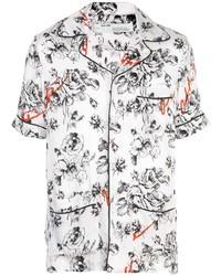 Camisa de manga corta con print de flores blanca de Off-White