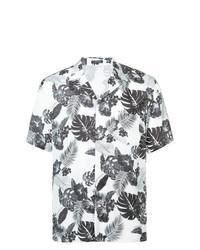 Camisa de manga corta con print de flores en blanco y negro de Loveless