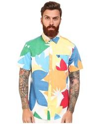 Camisa de Manga Corta con print de flores en Multicolor