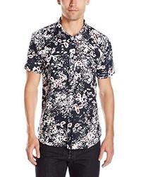 Camisa de manga corta con print de flores negra de 7 For All Mankind