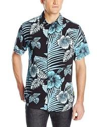 Camisa de manga corta con print de flores negra de Margaritaville