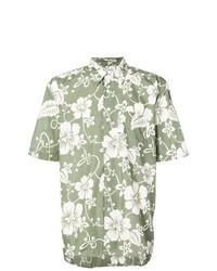 Camisa de manga corta con print de flores verde oliva de Our Legacy