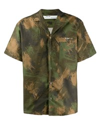 Camisa de manga corta de camuflaje verde oliva de Off-White
