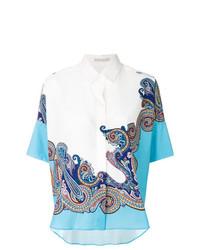 Camisa de manga corta de paisley blanca de Etro