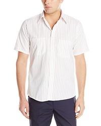 Camisa de manga corta de rayas verticales blanca de Red Kap
