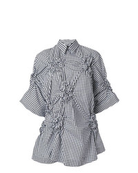 Camisa de manga corta en negro y blanco de Simone Rocha