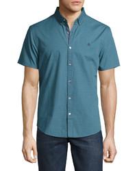 Camisa de manga corta en verde azulado