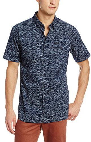 Camisa de manga corta estampada azul marino de Marc Ecko Cut & Sew