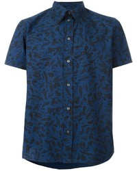 Camisa de manga corta estampada azul marino de Paul Smith