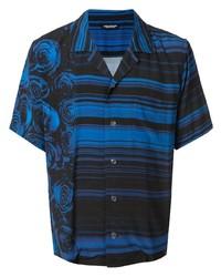 Camisa de manga corta estampada azul de Christian Dada