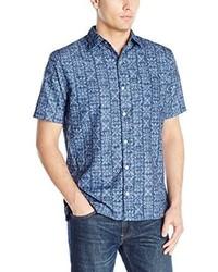 Camisa de manga corta estampada azul de Van Heusen