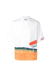 Camisa de manga corta estampada blanca de Calvin Klein 205W39nyc