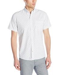 Camisa de Manga Corta Estampada Blanca de Izod