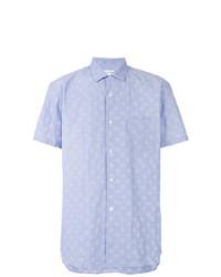 Camisa de manga corta estampada celeste de Comme Des Garcons SHIRT