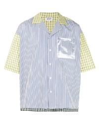Camisa de manga corta estampada celeste de Duo