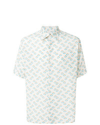 Camisa de manga corta estampada celeste de Fendi