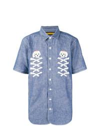 Camisa de manga corta estampada celeste de Neighborhood