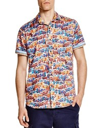Camisa de manga corta estampada en multicolor