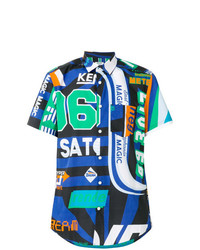 Camisa de manga corta estampada en multicolor de Kenzo