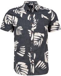 Camisa de manga corta estampada en negro y blanco