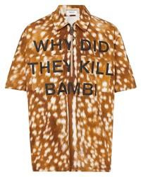 Camisa de manga corta estampada en tabaco de Burberry